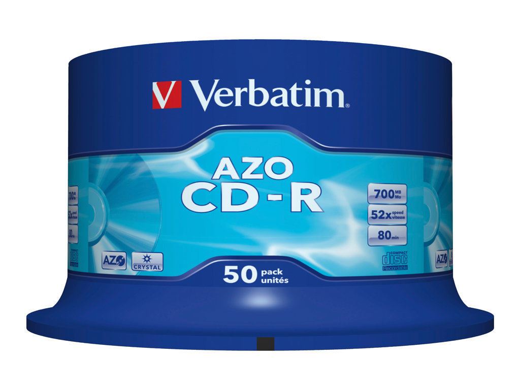 VERBATIM CD -R 700MB 52X SPINDLE 50 SUPERFICIE CRISTAL SUPER
