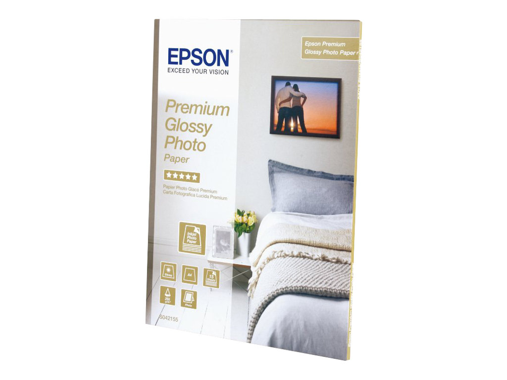 EPSON PAPEL INKJET FOTOGRFICO GLOSSY PREMIUM A4 255GR 15 HO