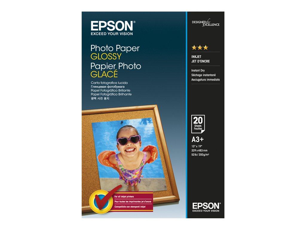 EPSON PAPEL INKJET FOTOGRFICO GLOSSY A3+ 20 HOJAS