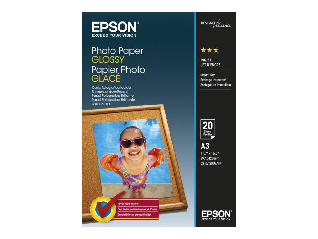 EPSON PAPEL INKJET FOTOGRFICO GLOSSY A3 20 HOJAS