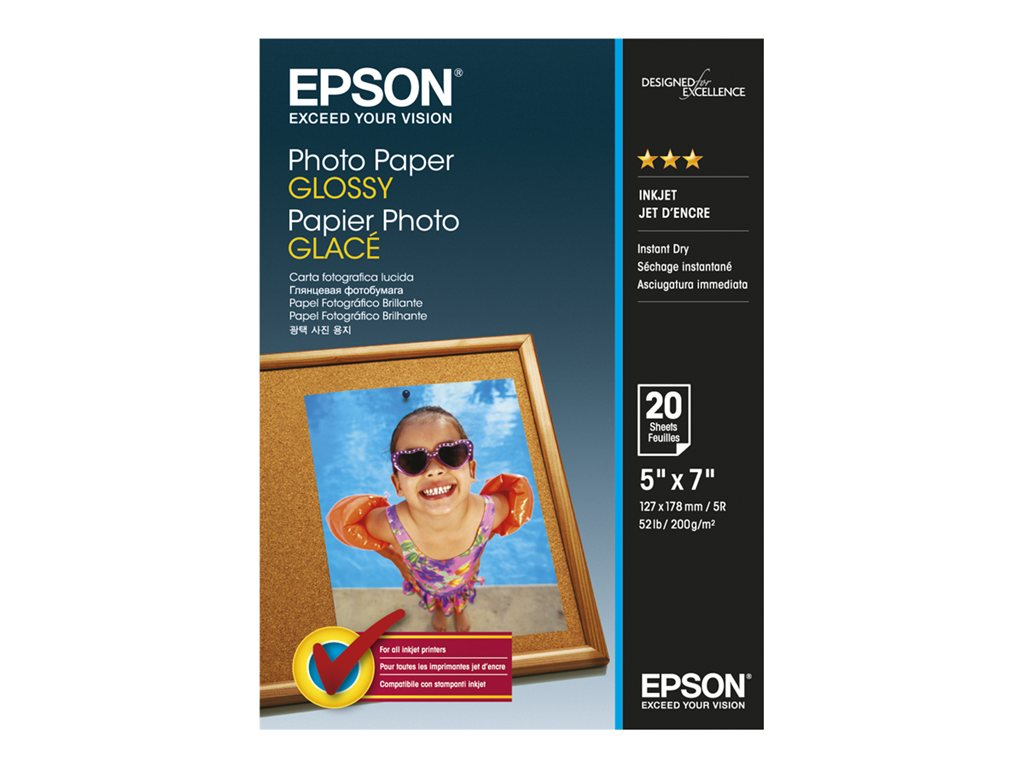 EPSON PAPEL INKJET FOTOGRFICO GLOSSY 13X18CM 20 HOJAS
