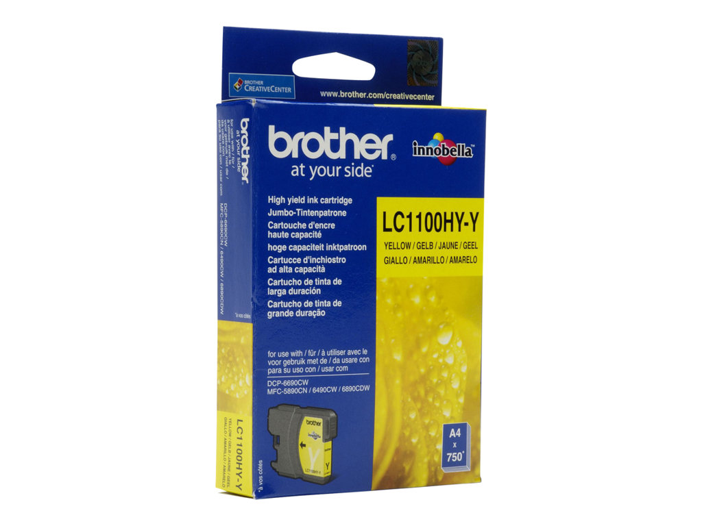 BROTHER CARTUCHO INYECCION TINTA AMARILLO 325 P GINAS MFC/64