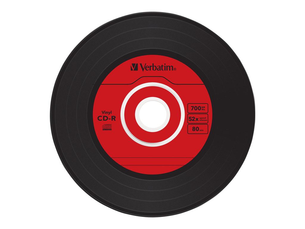 VERBATIM CD -R 700MB 52X SLIM 10 VINILO SUPER AZO