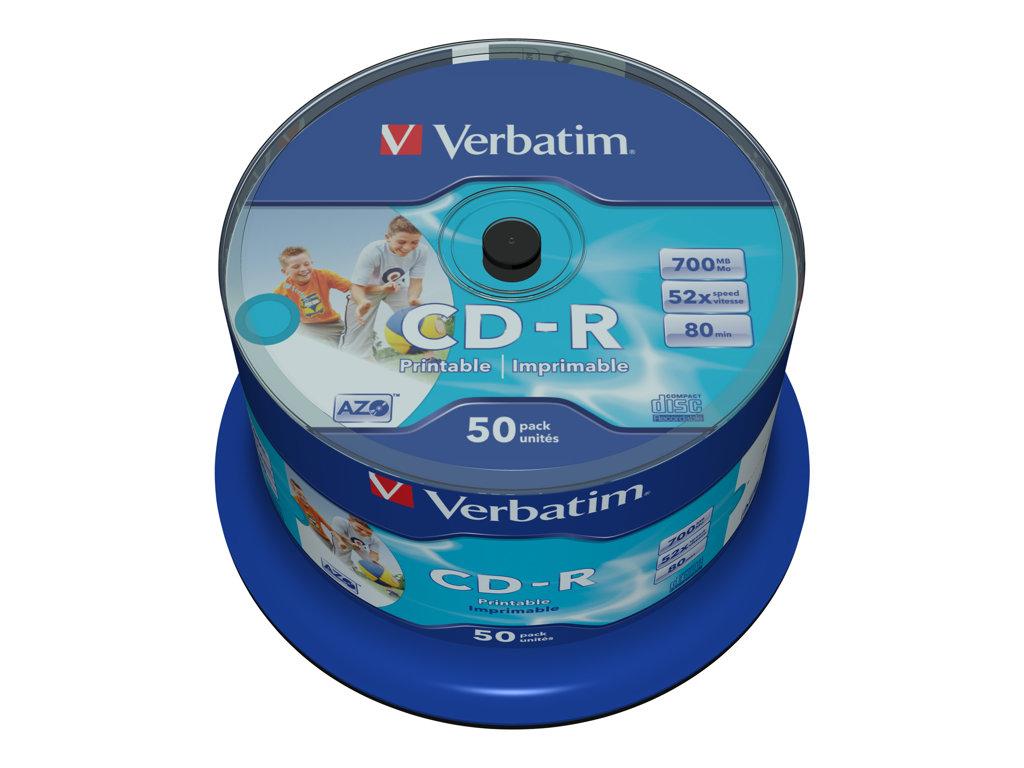 VERBATIM CD -R 700MB 52X SPINDLE 50 SUPER AZO