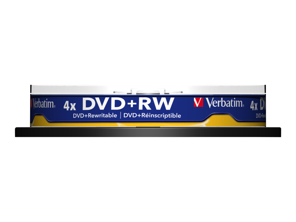 VERBATIM DVD +RW 4.7GB 4X SPINDLE 10 ADVANCED SERL