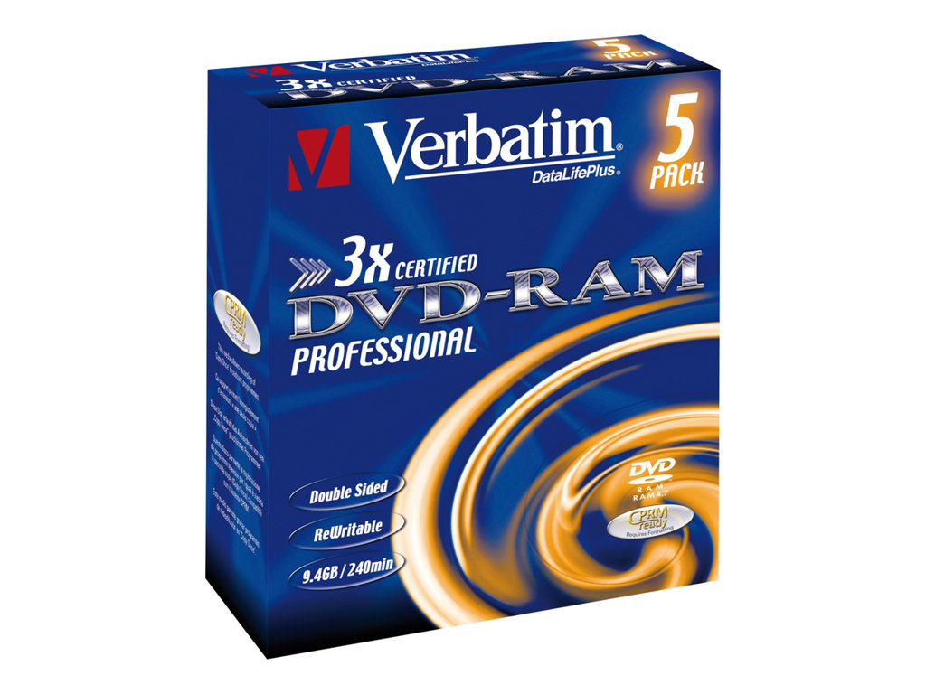VERBATIM DVD -RAM 9.4GB 3X PACK 5