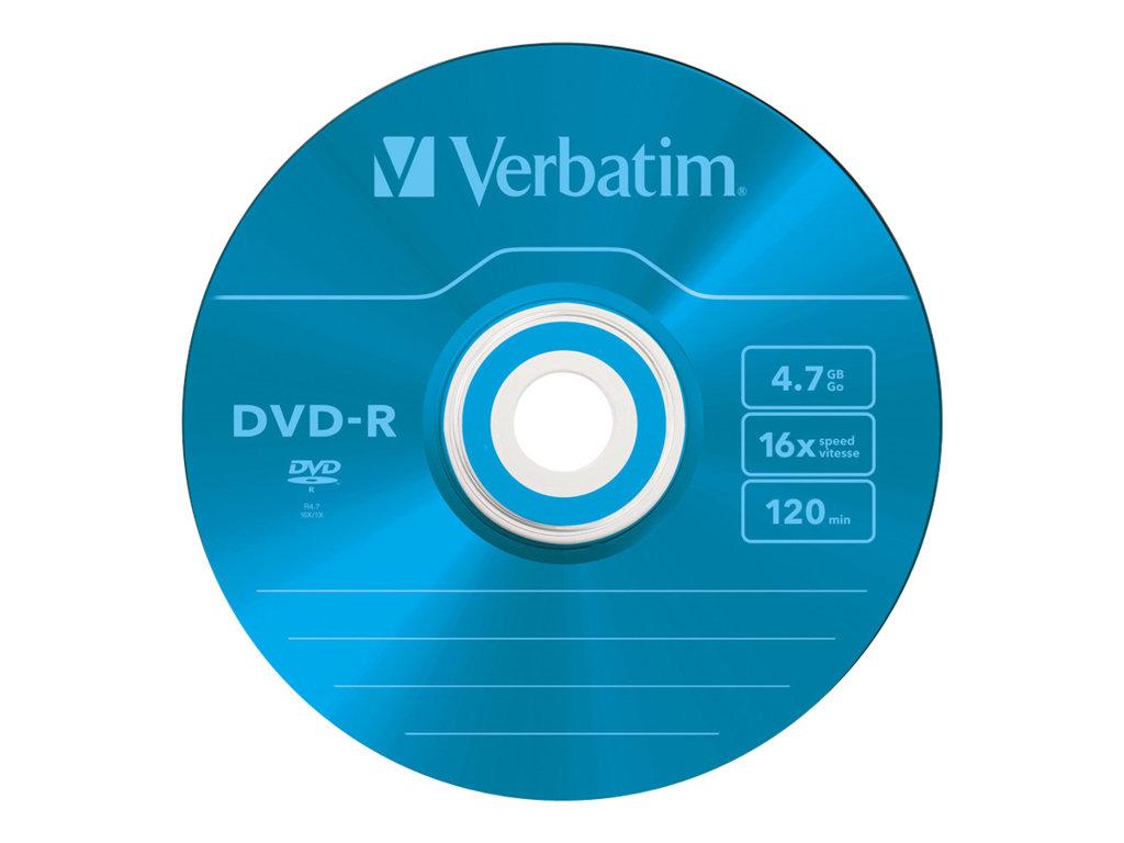 VERBATIM DVD -R 4.7GB 16X SLIM 5 ADVANCED AZO NO IMPRIMIBLE