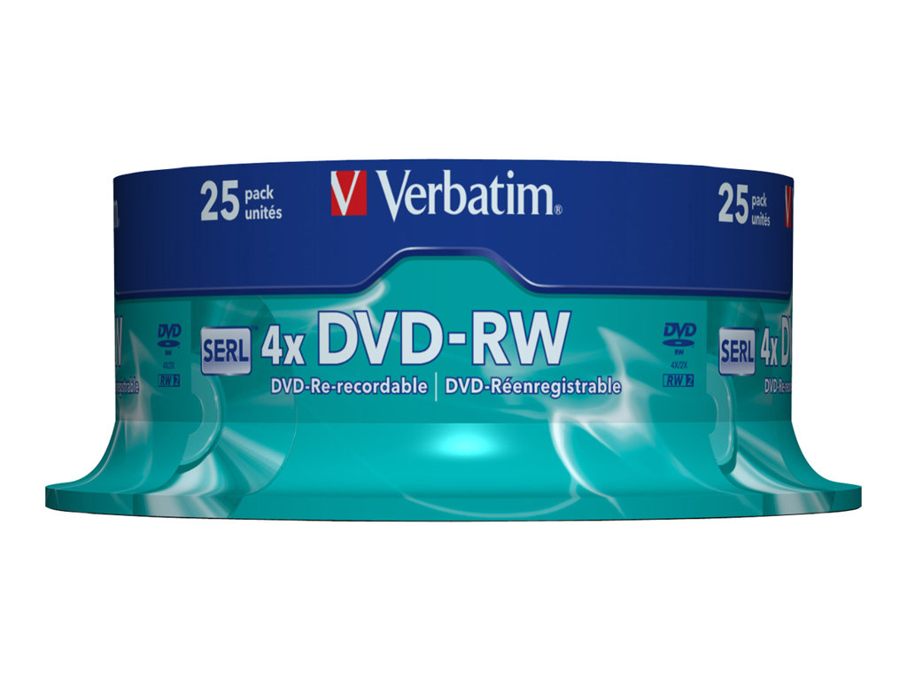 VERBATIM DVD -RW 4.7GB 4X SPINDLE 25 ADVANCED SERL