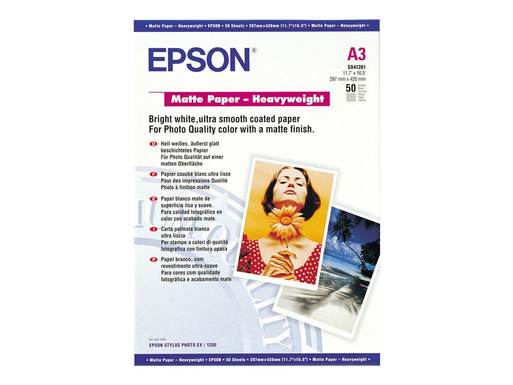 EPSON PAPEL INKJET MATT A3 167GR 50 HOJAS