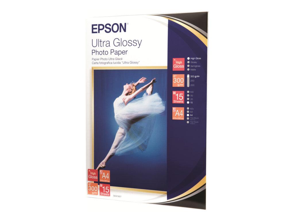 EPSON PAPEL INKJET FOTOGR FICO GLOSSY ULTRA A4 300GR 15 HOJA