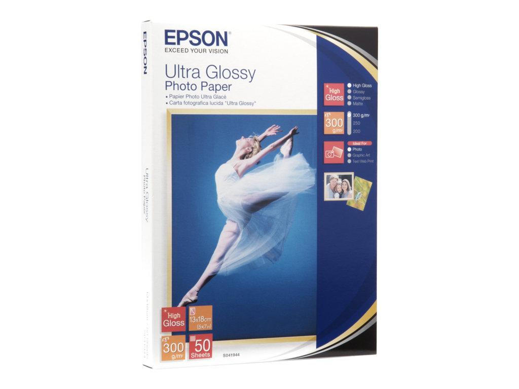 EPSON PAPEL INKJET FOTOGRFICO GLOSSY ULTRA 13X18CM 300GR 50