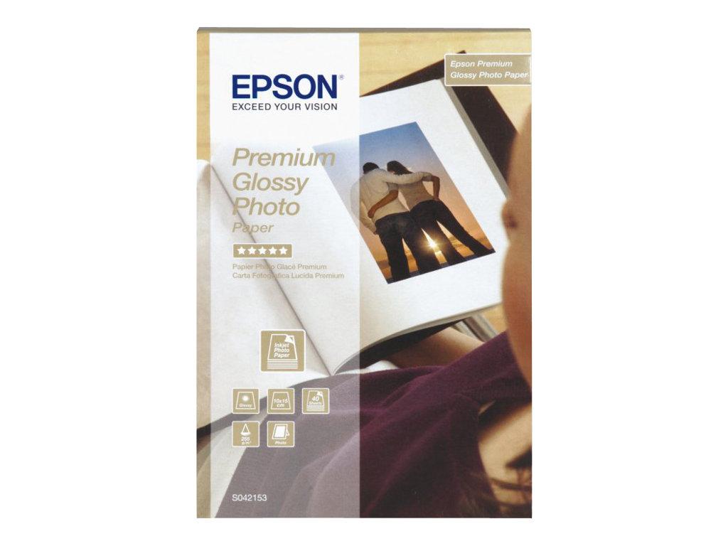 EPSON PAPEL INKJET FOTOGRFICO GLOSSY PREMIUM 10X15 255GR 40