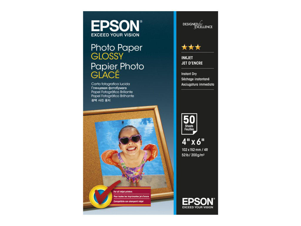 EPSON PAPEL INKJET 4X6 50 HOJAS